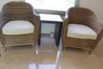 Универсален стол от ратан за всесезонно използване