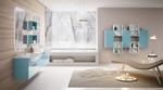 шкафове за баня от полистирол модернистични