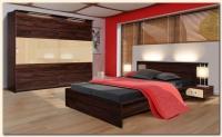 Модерна спалня в два цвята