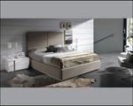 Мебели - тапицирано легло с голяма табла по поръчка