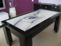 Холна маса с принт стъкло