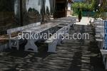 дървени луксозни маси с пейки