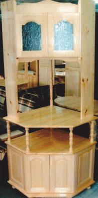 Ъглов ТВ бар с надстройка масив